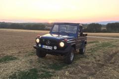230G im Sonnenuntergang vor dem Laurenziberg