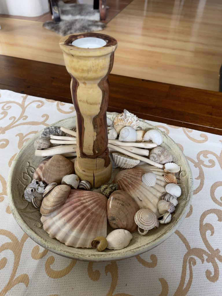 DIY Drechseln Kerzenständer Pflaume - Risse